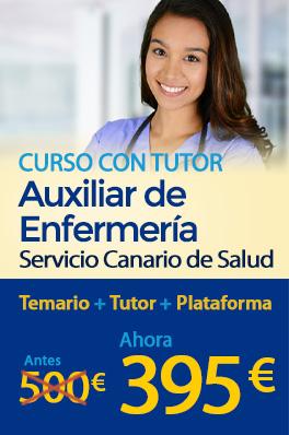 Curso con tutor - Auxiliar de enfermería del Servicio Canario de Salud