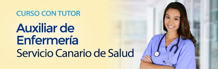 Prepárate con nuestro curso online con tutor para las oposiciones de Auxiliar de Enfermería del Servicio Canario de Salud